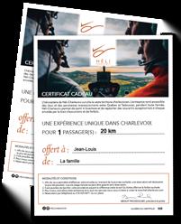 Certificat Cadeau Charlevoix